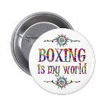 El boxeo es mi mundo pin