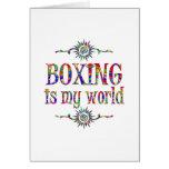 El boxeo es mi mundo tarjetas