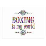 El boxeo es mi mundo tarjetas postales