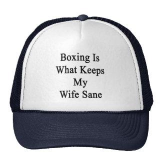 El boxeo es qué mantiene a mi esposa sana gorras de camionero