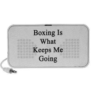 El boxeo es qué me guarda el ir altavoz