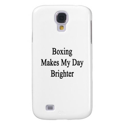 El boxeo hace mi día más brillante