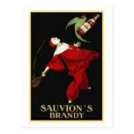 El brandy de Sauvion Tarjeta Postal