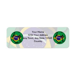 El Brasil 1 Etiquetas De Remite