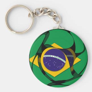 El Brasil 1 Llavero Redondo Tipo Pin