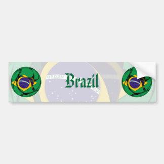 El Brasil 1 Pegatina Para Auto