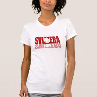 El Brasil 2014 - Bandera de Suiza del futebol del Camiseta