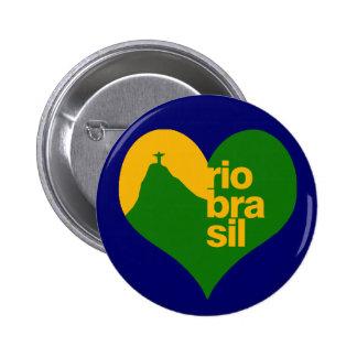 El Brasil 2014 RJ Pin Redondo 5 Cm