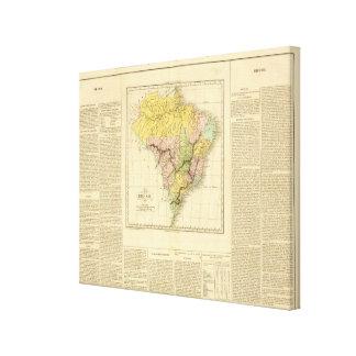 El Brasil 7 Lona Envuelta Para Galerias