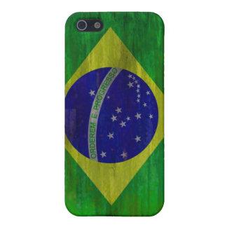 El Brasil apenó la bandera brasileña iPhone 5 Fundas
