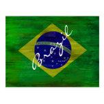 El Brasil apenó la bandera brasileña Tarjetas Postales