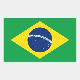 El Brasil - bandera nacional brasileña Pegatina Rectangular
