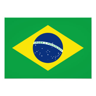 El Brasil - bandera nacional brasileña Foto