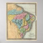 El Brasil con Guayana y Paraguay Póster