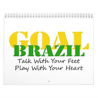 El Brasil - corazón del juego de los pies de la Calendario De Pared