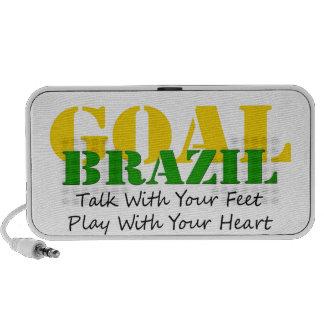 El Brasil - corazón del juego de los pies de la ch iPod Altavoz