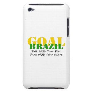 El Brasil - corazón del juego de los pies de la ch iPod Case-Mate Fundas