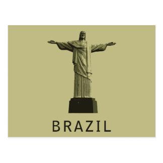 El Brasil Cristo el redentor Postal