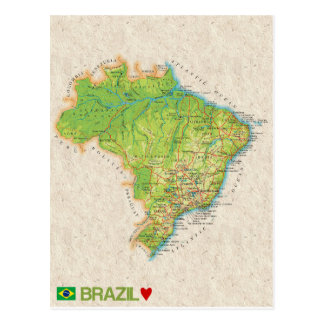 ♥ el Brasil de las POSTALES del MAPA