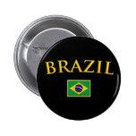El Brasil de oro Pins