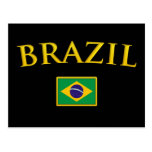 El Brasil de oro Tarjeta Postal