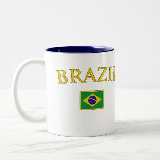 El Brasil de oro Taza De Dos Tonos