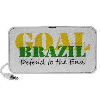 El Brasil - defienda al extremo Notebook Altavoces
