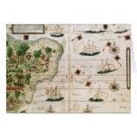 """El Brasil del """"atlas de Miller"""" por Pedro Reinel Tarjeta De Felicitación"""