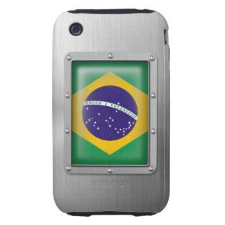 El Brasil en acero inoxidable Funda Resistente Para iPhone 3
