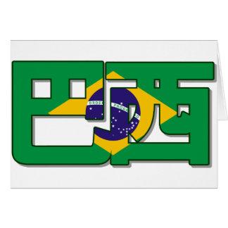 El Brasil - en tarjeta china
