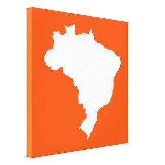 El Brasil festivo anaranjado en Emporiomoffa Lienzo Envuelto Para Galerias