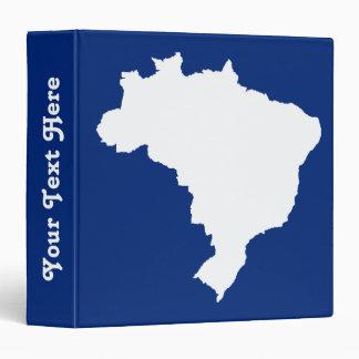 "El Brasil festivo azul oceánico en Emporio Moffa Carpeta 1 1/2"""