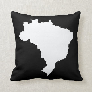 El Brasil festivo negro Cojín Decorativo