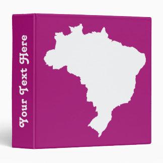 """El Brasil festivo púrpura en Emporio Moffa Carpeta 1 1/2"""""""