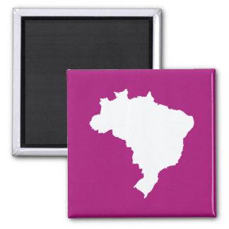 El Brasil festivo púrpura en Emporio Moffa Imán Cuadrado