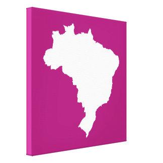 El Brasil festivo púrpura en Emporiomoffa Impresión En Lona Estirada