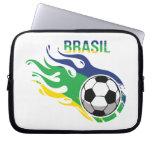 El Brasil fresco Futebol Funda Portátil