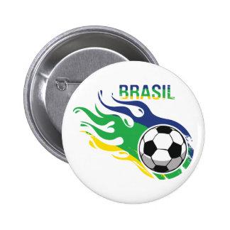 El Brasil fresco Futebol Pins