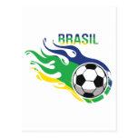 El Brasil fresco Futebol Tarjetas Postales