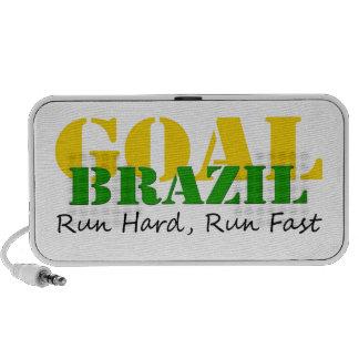 El Brasil - funcione con el funcionamiento duro rá Portátil Altavoz