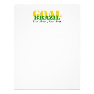 El Brasil - funcione con el funcionamiento duro rá Flyer A Todo Color