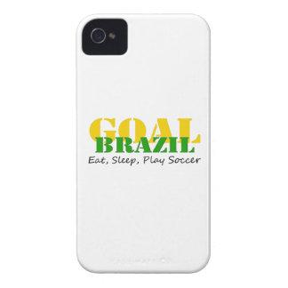 El Brasil - fútbol de Eat Sleep Play Case-Mate iPhone 4 Carcasa