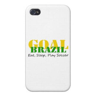 El Brasil - fútbol de Eat Sleep Play iPhone 4 Fundas