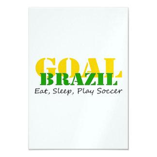 """El Brasil - fútbol de Eat Sleep Play Invitación 3.5"""" X 5"""""""