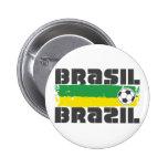 El Brasil Futbol Pins