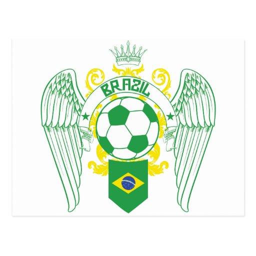 El Brasil Futbol Tarjetas Postales
