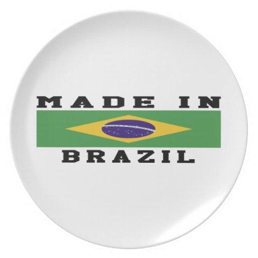 El Brasil hizo en diseños Platos