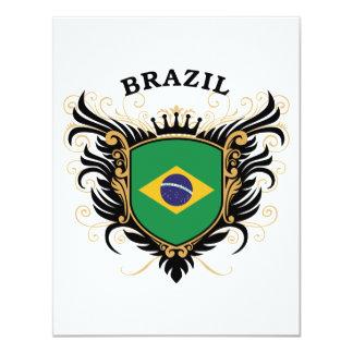 """El Brasil Invitación 4.25"""" X 5.5"""""""