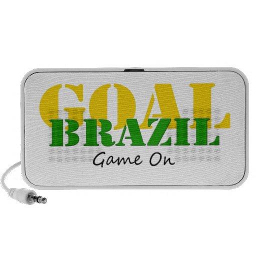 El Brasil - juego de la meta encendido iPod Altavoces