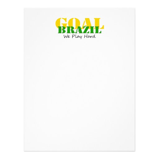 El Brasil - jugamos difícilmente Tarjeta Publicitaria